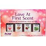 Now Foods Love At First Scent, Romantic Essential Oils Kit, Bottles, 10ml (Pack of 4)