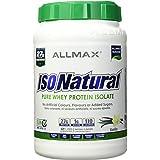ALLMAX Nutrition Isonatural Whey Protein Isolate, Vanilla, 2 lbs