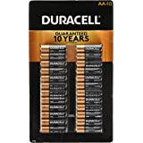 Duracell Coppertop Alkaline-Manganese Dioxide AA Battery, 1.5V, (Pack of 48)
