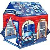 POCO DIVO Police Station Play Tent Kids Pretend Super Hero Playhouse