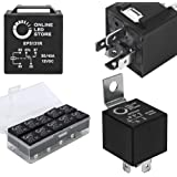 ONLINE LED STORE 10 Pack Bosch Style 5-Pin 12V Relay Switch [SPDT] [30/40 Amp] 12 Volt Automotive Relays for Auto Fan Cars