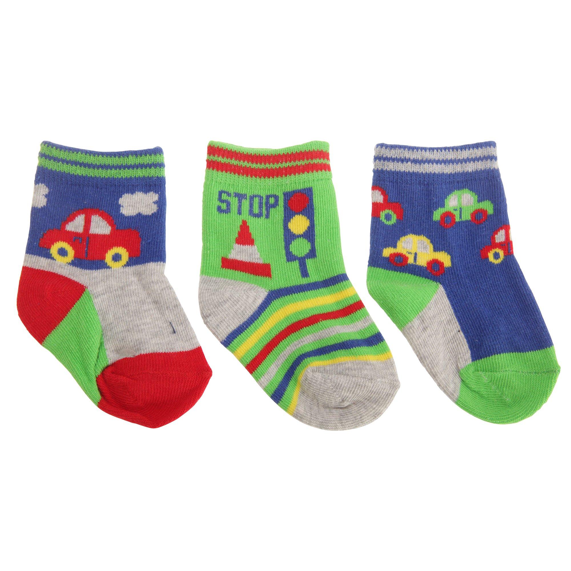 277f88c3c7448 Textiles ベビー・赤ちゃん用 くるまのデザイン 靴下セット 3足組 ソックス 男の子 UK0