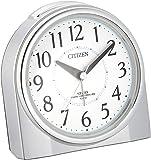 CITIZEN シチズン 目覚まし時計 電波時計 夜間常時点灯 ネムリーナリング シルバー 125x121x73mm 4…