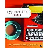 Typewriter Notes: 20 Different Cards & Envelopes (Thank You Cards Typewriter, Blank Notecards)
