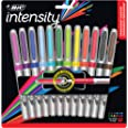 BIC Intensity Permanent Ultra Fine Point Marker - Pack of 12 Colouring Markers – Fashion, Low Odour, Non Toxic, Non Slip Grip