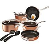 Gotham Steel Stackable Pots and Pans Set – Stackmaster 10 Piece Cookware Set with Ultra Nonstick Cast Texture Ceramic Coating