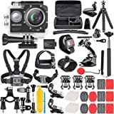Neewer G1 Ultra HD 4K Action Camera Kit Includes 12MP, 98 ft Underwater Waterproof Camera 170 Degree Wide Angle WiFi Sports C