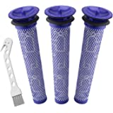 Wolfish 3 Pack Pre Filters for Dyson DC58, DC59, V6, V7, V8. Replacements Part # 965661-01. 3 Filters Kit for Dyson Filter Re