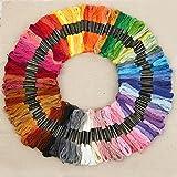 100束 x 100色 刺しゅう糸 初心者 高質量 多色鮮やかな縫い糸 クロスステッチ 刺繍セット