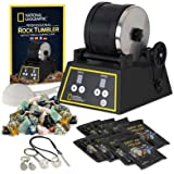 National Geographic Professional Rock Tumbler Kit- Features Include Shutoff Timer & Speed Control, 2 Pound Barrel, 2 Pounds o