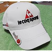新品/ルコック レインキャップ/ホワイト マーカーつき! 白色 キャップ 夏可 le coq sportif ゴルフ、帽…
