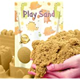Dino Sand Refill Pack-3 Pound Moldable and Non Stick Moving Sand in a Resealable Bag Indoor Outdoor Kinetic Activity Creative