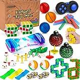 Mibote 36 Pcs Fidget Toys Set, Sensory Fidget Toys Bundle for Kids/Adults Stress Relief and Anti-Anxiety Hand Toys , Liquid M
