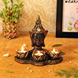 Tied Ribbons Buddha Tealight Candle Holder Buddha Statue Zen Table Set Diwali Decorations for Home and Diwali Gifts