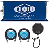 Cloud Microphones CL-1 Cloudlifter 1 Channel Mic Activator for Dynamic/Ribbon/Tube Microphone Bundle with Blucoil 2-Pack of 1
