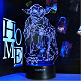 3D Star Wars Night Light, 16 Colors Changing Night Lights with Remote & Smart Touch, Christmas and Birthday Gifts for Kids an