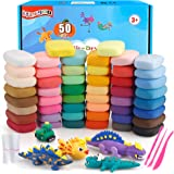 ifergoo Modeling Clay - 48 Colors Air Dry Clay, DIY Molding Magic Clay for Slime add ins & Slime Supplies, Kids Toys Set for