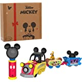 Just Play Disney Junior Mickey Mouse Funhouse Light The Way Train, Musical Toy Train Set with Controller, Preschool, Amazon E