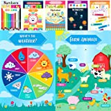 Youngever 12 Pack Laminated Educational Preschool Posters for Toddlers and Kids, Learning Posters, Classroom Posters, Teachin