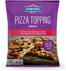 Emborg Pizza Topping Shredded Cheese, 200g - Chilled