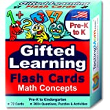 TestingMom.com Gifted Learning Flash Cards – Math Concepts for Pre-K – Kindergarten – Addition, Subtraction, Counting, & More