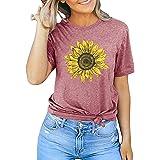 Sunflower Shirts for Women Faith Tops Summer Short Sleeve Casual T Shirt Junior Teen Girls Graphic Inspirational Tees