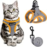 Cat Harness and Leash for Walking Escape Proof, Adjustable Cat Leash and Harness Set, Lifetime Replacement, Lightweight Kitte