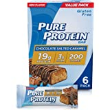 Pure Protein Bars, High Protein, Nutritious Snacks to Support Energy, Low Sugar, Gluten Free, Chocolate Salted Caramel, 1.76o