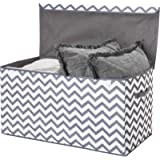 Toy Chest with Flip-Top Lid, Kids Collapsible Storage for Nursery, Playroom, Closet, Home Organization Chevron