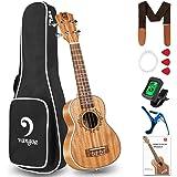 Vangoa Soprano Ukulele 21 Inch Mahogany Hawaii Guitar Uke Bundle for Kids Beginners Adults