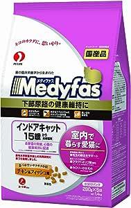 メディファス インドアキャット 15歳から 長寿猫用 チキン&フィッシュ味 1.4㎏