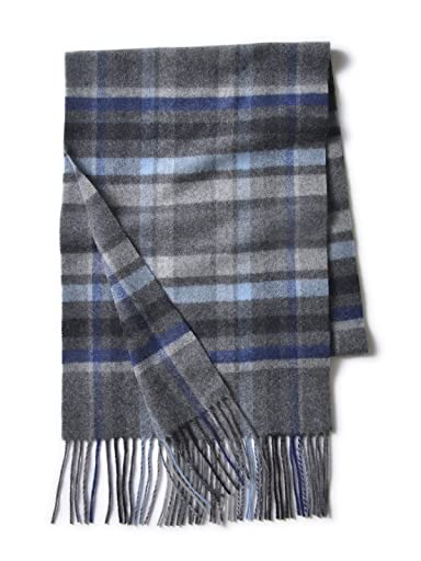 Check Cashmere Scarf 11-45-0423-544: Grey