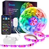 DreamColor 16.4ft LED Strip Lights, MINGER WiFi Wireless Smart Phone Controlled Light Strip 5050 LED Lights Sync to Music, Wo