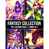 Fantasy Collection: An Adult Coloring Book with 100+ Incredible Coloring Pages of Mermaids, Fairies, Vampires, Dragons, and M