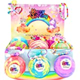 Gift bath bombs for girls with bracelets inside PLUS Jewelry Box for kids - All Natural with skin moisturizing Shea Butter. G