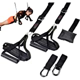 Bodytorc Suspension Training Kit, Bodyweight Training Straps for Full Body Workouts at Home, Includes Hanging Ab Straps and D
