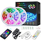 DDS-DUDES LED Strip Lights Bluetooth 10m/32.8ft Wireless Smartphone Control 5050 RGB 300 LEDs Music Sync Colour Changing Ligh