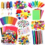 Arts and Crafts Supplies for Kids Craft Art Supply Kit for Toddlers Age 4 5 6 7 8 9 All in One DIY Pipe Cleaners Crafting Col