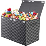 Toy Box Chest with Flip-Top Lid - Foldable Kids Toys Organizers and Storage Bin Basket for Nursery,Playroom,Closet,Pantry and