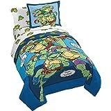 Nickelodeon Teenage Mutant Ninja Turtles Ready To Roll 5 Piece Twin Bed Set - Includes Reversible Comforter & Sheet Set Beddi