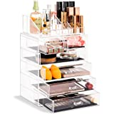 (Set Style 2) - Sorbus Acrylic Cosmetics Makeup and Jewellery Storage Case Display Set (Set Style 2)