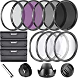 Neewer® 67MM Complete Lens Filter Accessory Kit for Lenses with 67MM Filter Size: UV CPL FLD Filter Set + Macro Close Up Set
