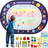 Apsung Large Aqua Doodle Mat 100 X 70 cm Water Drawing Doodle Magic Mat Educational Toys Gifts for Kids Toddlers Boys Girls A