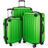Hauptstadtkoffer Spree - Set of 3 Luggages Suitcase Hardside Spinner Trolley Expandable TSA, applegreen, Set