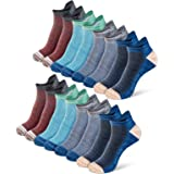 Newdora Running Socks for Men and Women, 8 Pairs Ankle Athletic Socks Walking Socks With Arch Support, Breathable Cushion Low