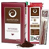 [Amazon限定ブランド] Punto Italia Espresso Journey プント・イタリア・エスプレッソ [Intenso インテンソ] コーヒー粉 アラビカ豆60% ロブスタ豆40% ミディアム・ロースト 250g エニーロックセッ
