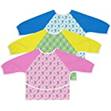 Australian Designed Sleeved Baby Bib with Pocket 6-24 months. Waterproof: Full Coverage for Highchair Feeding, Arts and Craft