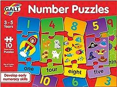 Galt 1105050 Toys, Number Puzzles (3 Piece)