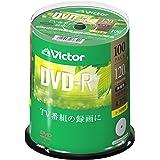 ビクター Victor 1回録画用 DVD-R VHR12JP100SJ1 (片面1層/1-16倍速/100枚)