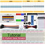 Freenove Basic Starter Kit for Raspberry Pi 4 B 3 B+ 400, 234-Page Detailed Tutorials, Python C Java Scratch Code, 146 Items,